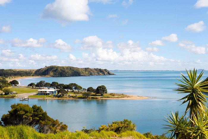Taipa Point (Doubtless Bay NZ). This is where I went to school. Just metres back from the beach! copyright © Debra Stratford