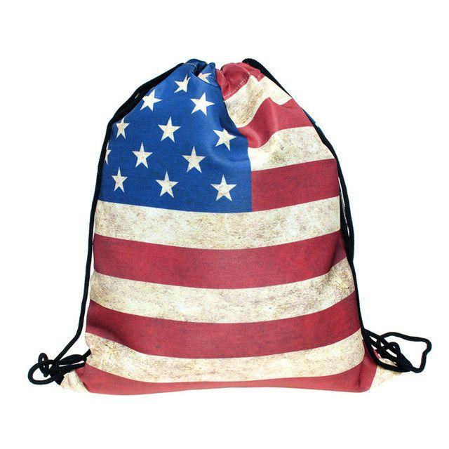 HAKUNA MATATA 3D Printing mini Backpack women New Drawstring bag Geometric triangle pattern Travel bag mochila feminina backpack