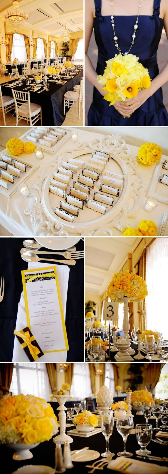 Navy and Yellow Wedding in California,