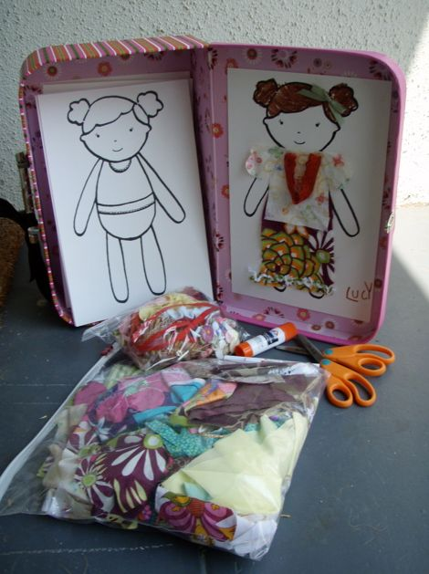 Scrap Fabric Paper Doll kit tutorial - one of 11 cool handmade holiday gifts... This doll idea would be great for our long car trip for the girls when they are older