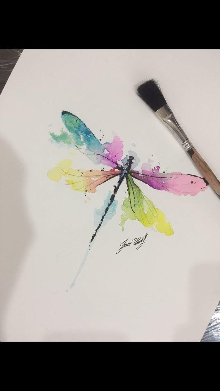 Aquarell Libelle  # Aquarell # Libelle   #Tattoos #Tattoos