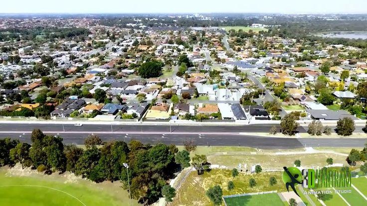 #Architectural #Animation #composite #superimpose #drone #video #footage #Australia #birdview #ideas