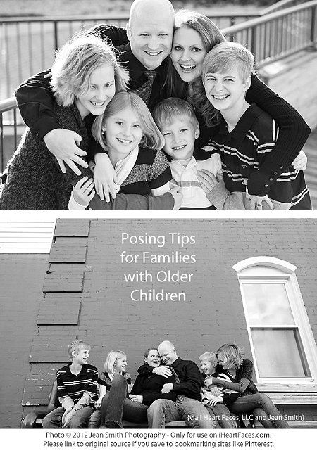 "{Posing Tips for Families with Older Children} *The ""try a little silly"" section…"