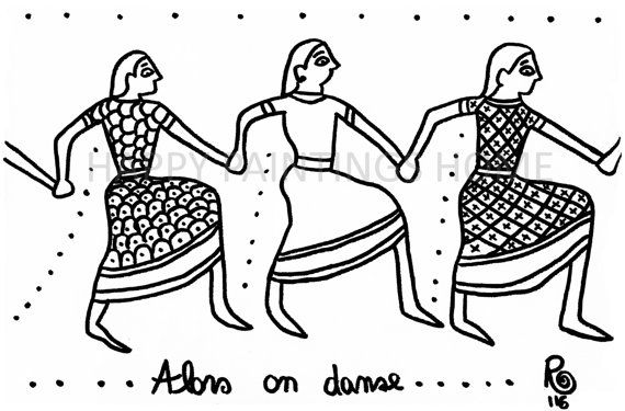 greek dancers coloring pages - photo#18