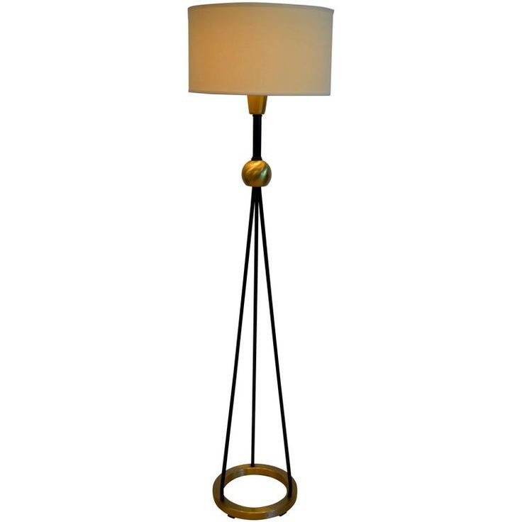 Gerald thurston brass and iron floor lamp for lightolier 1950s 1stdibs com