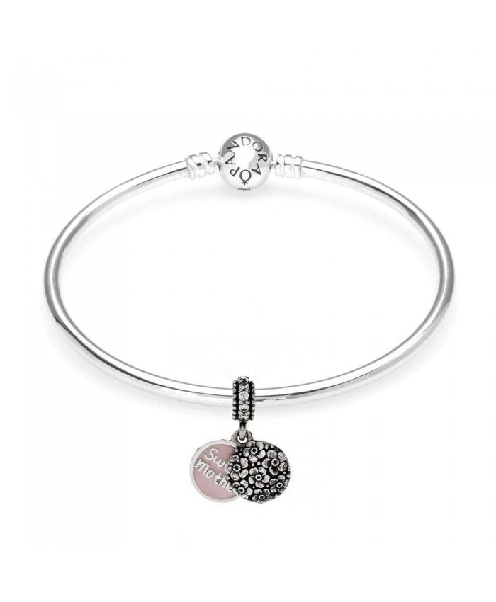 PANDORA Sweet Mother Bangle Mother's Day gives mother the best gift.
