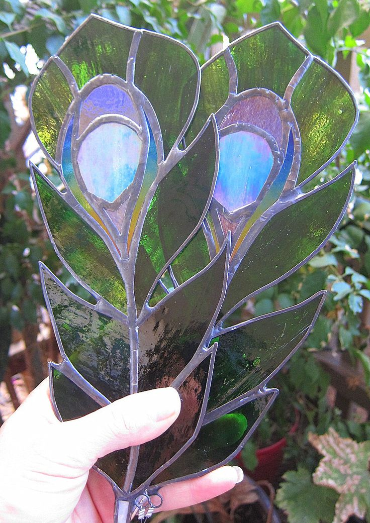 Peacock Feather Stained Glass Sun-Catcher for Home Garden- Made to Order by LotusLabs on Etsy https://www.etsy.com/ca/listing/203821167/peacock-feather-stained-glass-sun