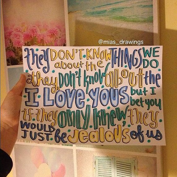 They Dont Know About Us One Direction lyric art by Miasdrawings, $5.00