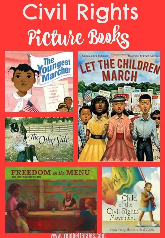 Books that teach children about the civil rights movement and Martin Luther King Jr.