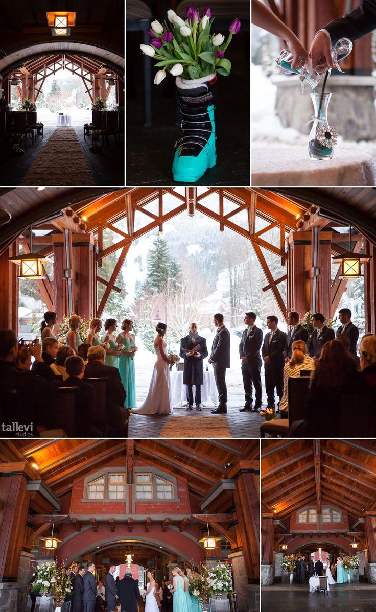 Beautiful Winter Ceremony Nitalakelodge Whistler Wedding
