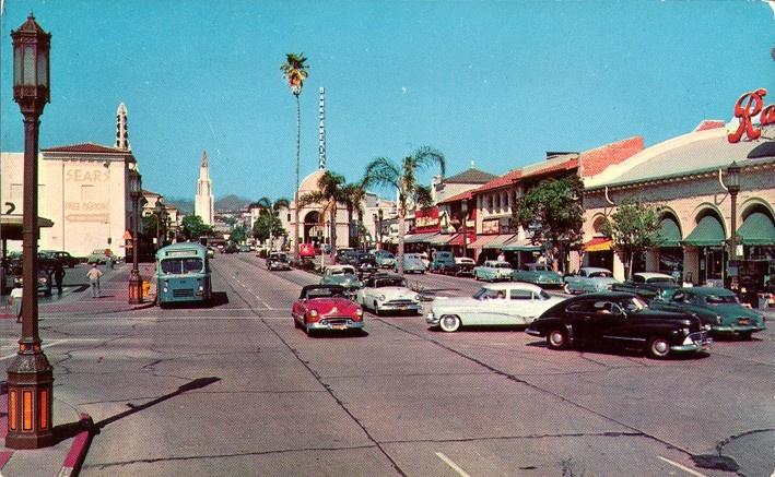 LOS ANGELES / WESTWOOD:  Westwood Village - Circa 1950s