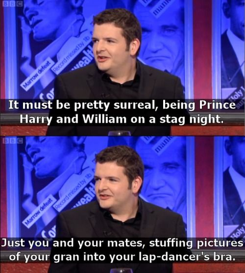 Scottish comedian Kevin Bridges on Royal Family problems