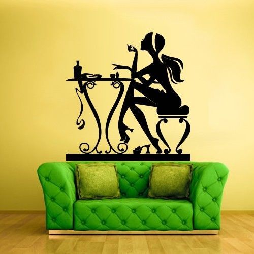 Wall Vinyl Sticker Decals Decor Haircut Salon Scissors manicure table (z924) in Home & Garden | eBay