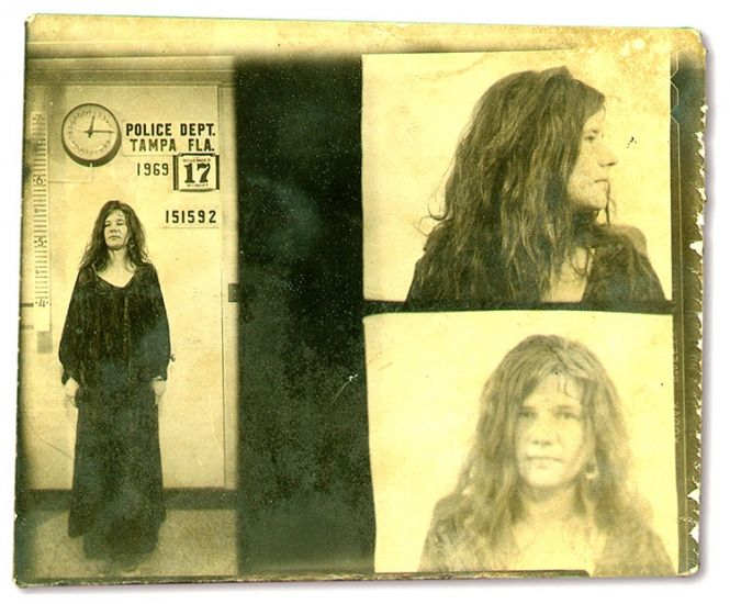 Janis Joplin was arrested in November 1969 in Florida and charged with disorderly conduct after yelling obscenities at police officers during a Tampa concert. Charges were later dropped after it was ruled that the singer's actions were an exercise of free speech.