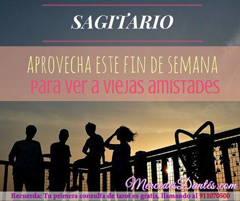 #Sagitario, no hay que olvidarse de las viejas amistades ¡aprovecha estos días para reuniros! #reencuentros. Tu horóscopo gratis en http://tarotistas.tv/horoscopo-gratis/