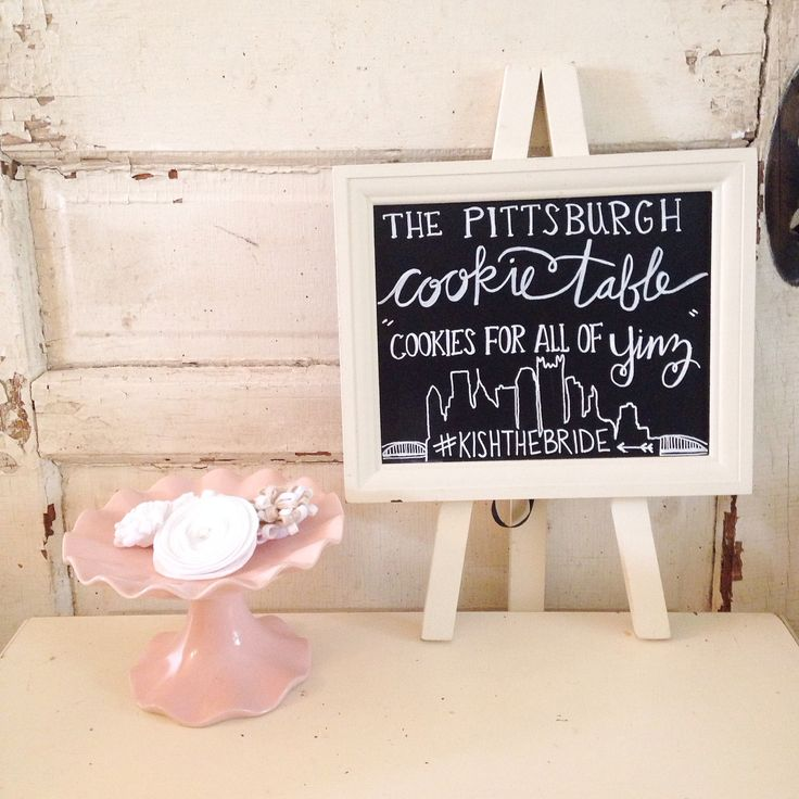Diy Wedding Cookie Tables: Pittsburgh Cookie Table Chalkboard