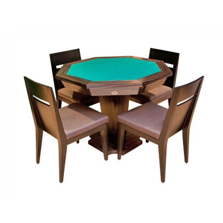 Mesa de Carteado e Poker Oitavada - Cód. 6203 - Esportes Express
