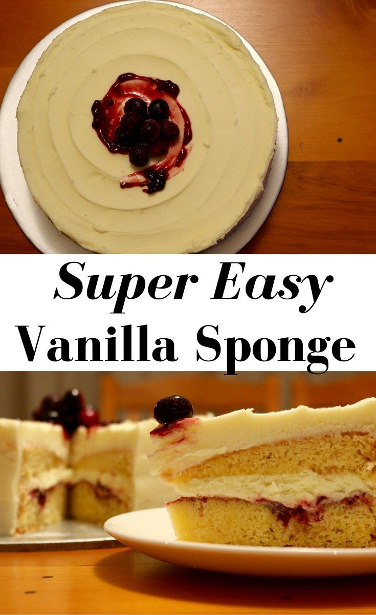 Vanilla Sponge cake. Super easy to make, and very delicious to eat.
