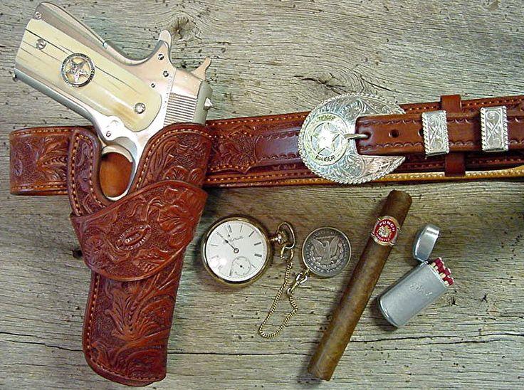 texas ranger 1911 holster rig | western leather holster
