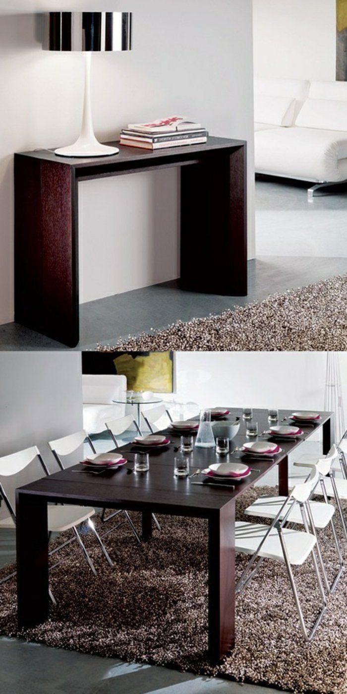 1000 id es propos de meubles en bois fonc sur - Meuble cuisine avec table escamotable ...