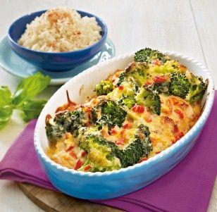 Überbackene Putenschnitzel mit Brokkoli