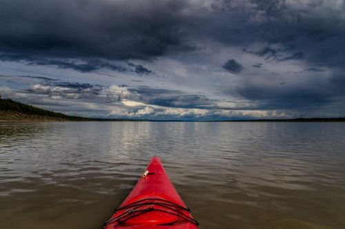 On the Mackenzie River near Tulit'a, Northwest Territories, Canada.
