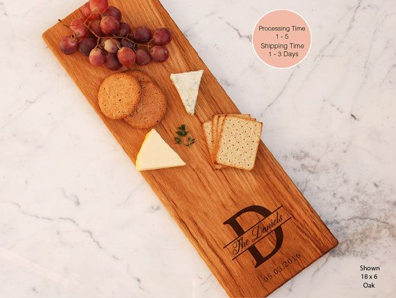Last Name Monogrammed Custom Cheese Board Gift Charcuterie Board Unique Wedding Present Mother Of Bride Family Name Board Best Bridal Shower
