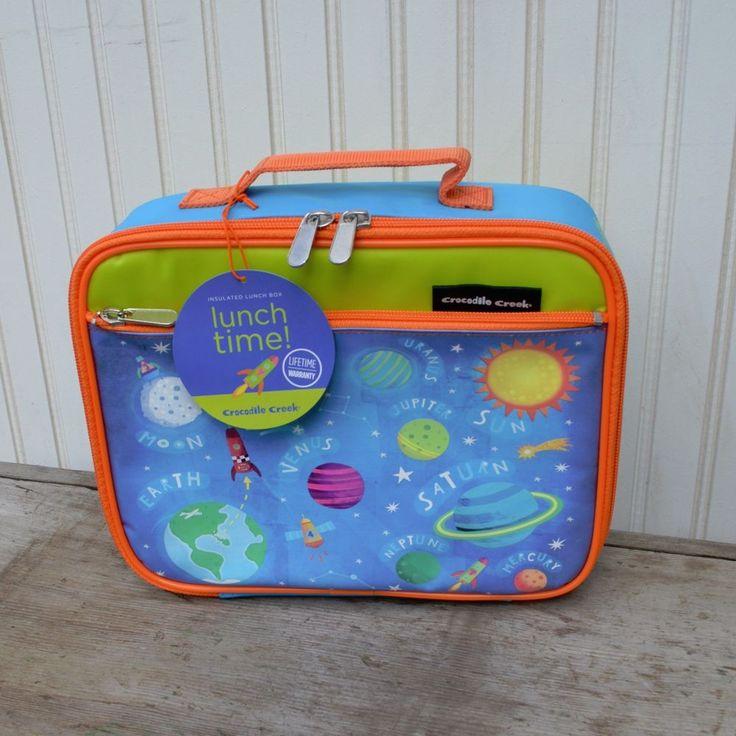 Crocodile Creek Kids Rocket  Insulated Lunch Box - New #crocodilecreek