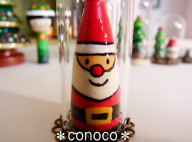 Glass Dome Santa
