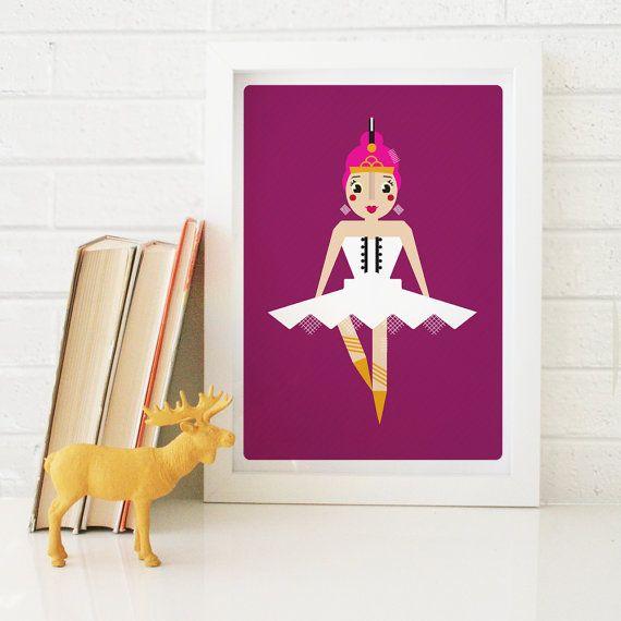Ballerina - Kid's wall art