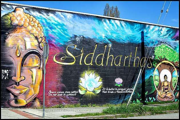 Mural at Siddhartha's Indian Kitchen.