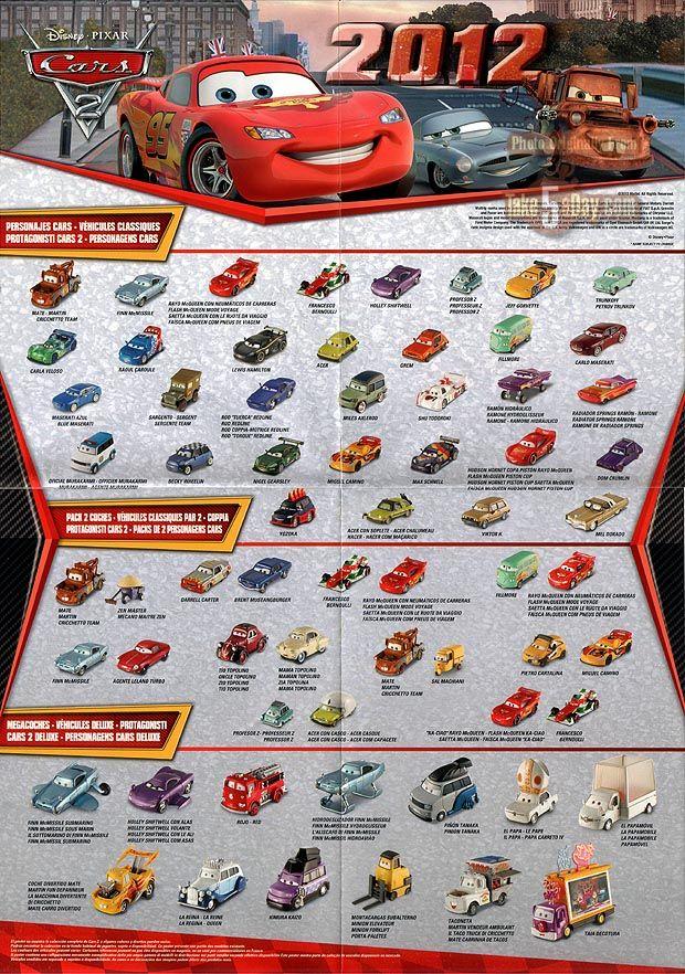 pixar cars posters Mattel Disney Pixar Diecast CARS