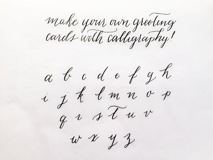 Easy tutorial on diy modern calligraphy for wedding