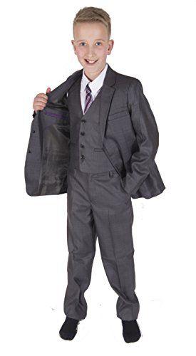 Cinda 5 Piece Boy Suits Boys Wedding Suit Page Boy Party Prom Jacket