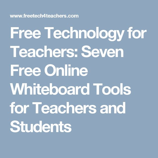 Free Technology for Teachers: Seven Free Online Whiteboard Tools for Teachers and Students