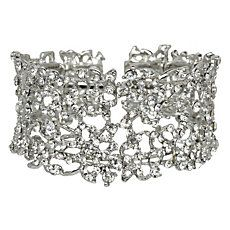 JAZZ - Delicate Crystal Cuff Bracelet by Dune Shoes