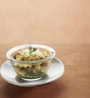 recette minceur : lasagnes de courgettes au surimi.