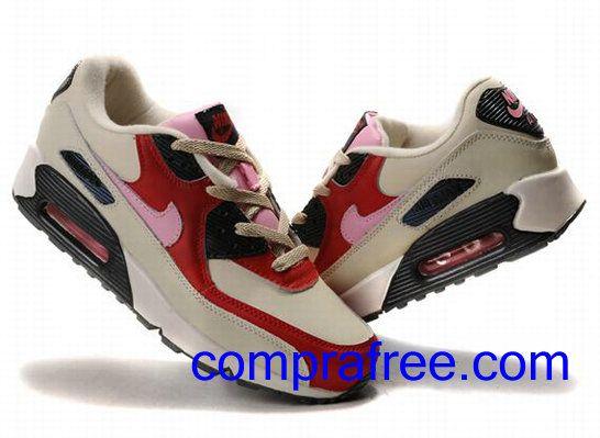 Comprar baratos mujer Nike Air Max 90 Zapatillas (color:rojo,blanco,negro) en linea en Espana.