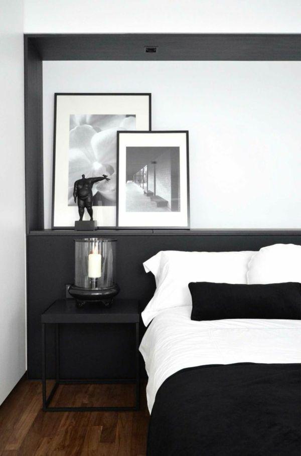 Die Besten 25+ Schlafzimmer Schwarz Weiß Ideen Auf Pinterest