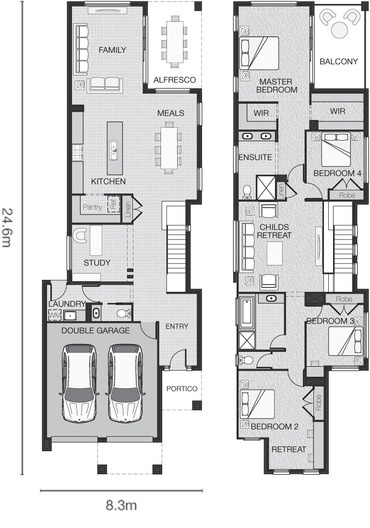 Standard floorplan for The Hayes