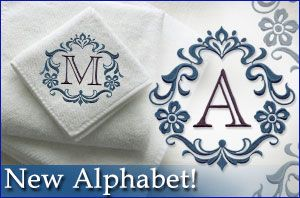 Great design for linen towels for bathroom...good wedding gifts