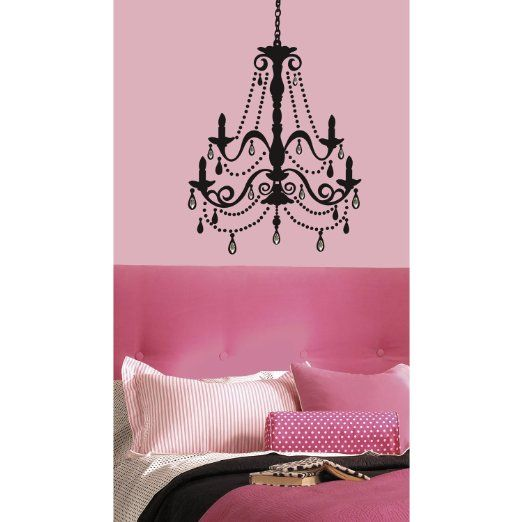 RoomMates RMK1805GM Chandelier with Gems Peel and Stick Giant Wall Decal