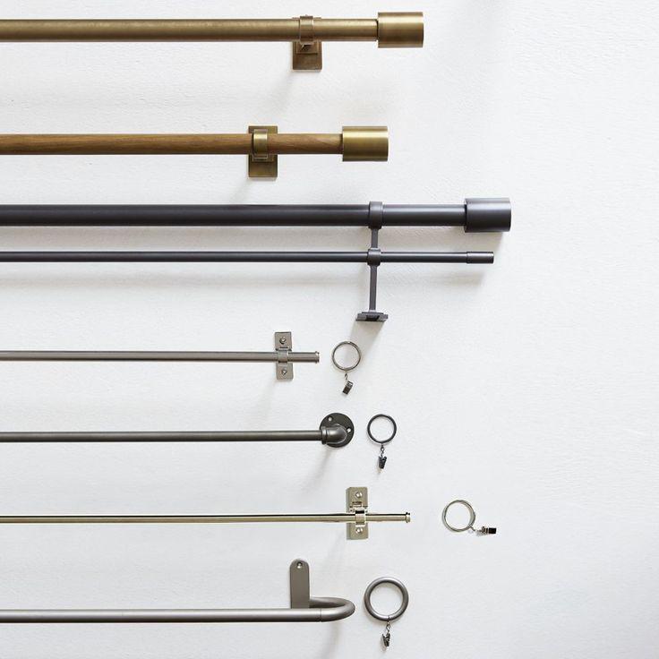 Oversized Adjustable Metal Double Rod west elm