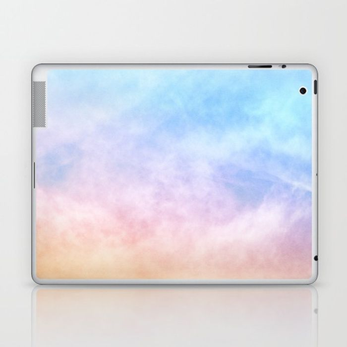 c615150604d00 Buy Pastel Rainbow Watercolor Clouds Laptop & iPad Skin by ...