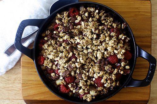 chocolate oat crumble - gluten-free