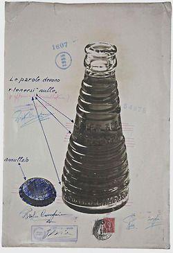 Fortunato Depero, bottle design for Campari Soda, 1932.