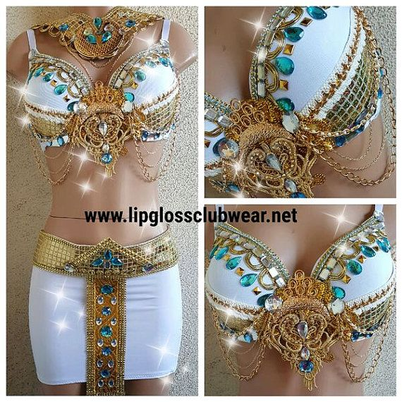 Egyptian Princess/Cleopatra with Mini Skirt for Halloween - Rave Event - Festival - Theme Wear
