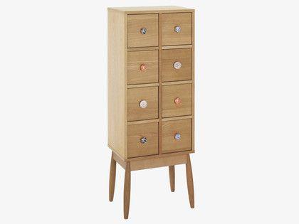 FLEUR NATURAL Wood 8 drawer cabinet - HabitatUK
