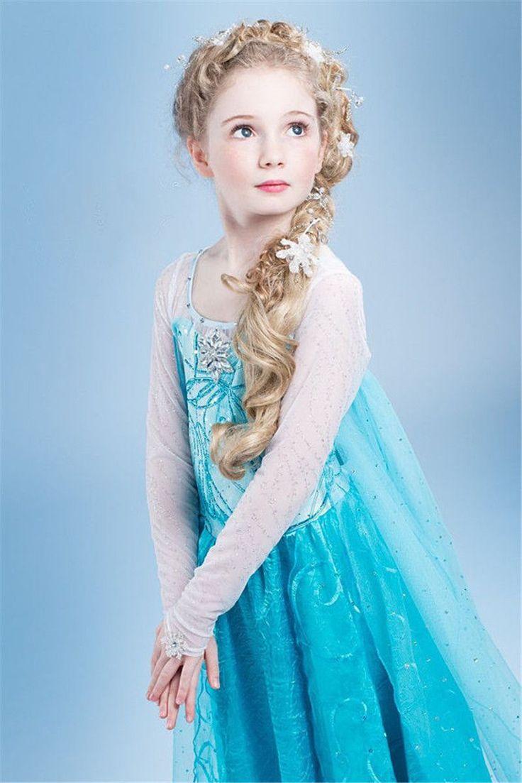Robe Tenue Princesse Déguisement Elsa, Cosplay La Reine Des Neiges, Utilisable Pour Les Anniversaires, Les Soirées, Sorties, Mariages Ou Encore Les Fêtes Etc...