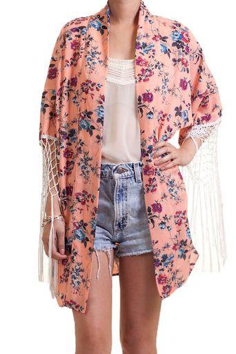 Bohemian Fringe Kimono Cardigan